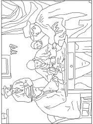 plansa de colorat picturi celebre de colorat p02