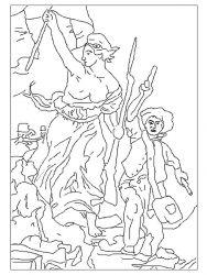 plansa de colorat picturi celebre de colorat p09