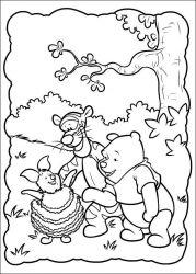 plansa de colorat piglet de colorat p23