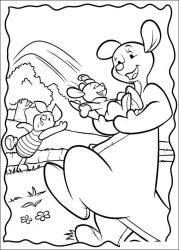 plansa de colorat piglet de colorat p36