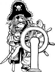 plansa de colorat pirati de colorat p01