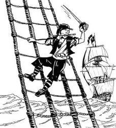 plansa de colorat pirati de colorat p02
