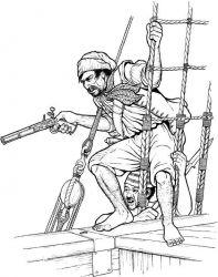 plansa de colorat pirati de colorat p03