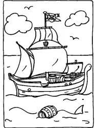 plansa de colorat pirati de colorat p05