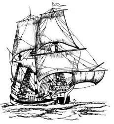 plansa de colorat pirati de colorat p06