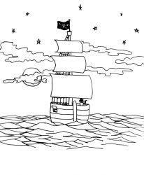 plansa de colorat pirati de colorat p07