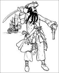 plansa de colorat pirati de colorat p12