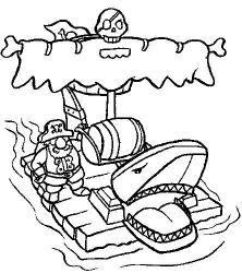 plansa de colorat pirati de colorat p19