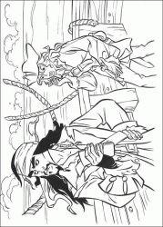 plansa de colorat piratii din caraibe de colorat p09