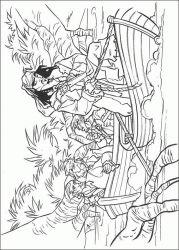 plansa de colorat piratii din caraibe de colorat p17