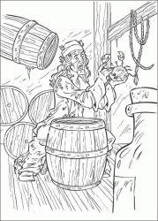 plansa de colorat piratii din caraibe de colorat p18