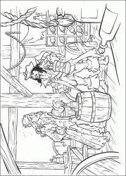 plansa de colorat piratii din caraibe de colorat p19