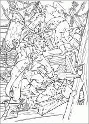 plansa de colorat piratii din caraibe de colorat p23
