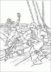 plansa de colorat piratii din caraibe de colorat p27