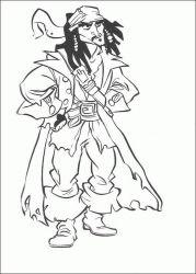 plansa de colorat piratii din caraibe de colorat p28