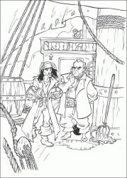 plansa de colorat piratii din caraibe de colorat p33