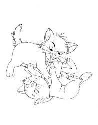 plansa de colorat pisicile aristocrate de colorat p01