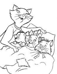 plansa de colorat pisicile aristocrate de colorat p04