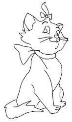 plansa de colorat pisicile aristocrate de colorat p08