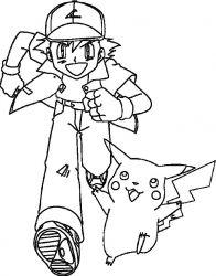 plansa de colorat pokemon de colorat p01