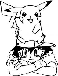 plansa de colorat pokemon de colorat p08
