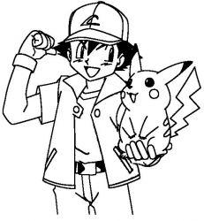 plansa de colorat pokemon de colorat p19