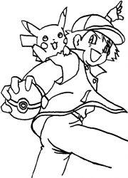 plansa de colorat pokemon de colorat p21