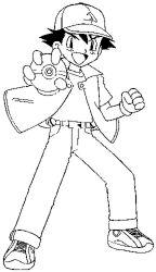 plansa de colorat pokemon de colorat p24