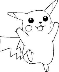 plansa de colorat pokemon de colorat p25