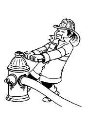plansa de colorat pompieri de colorat p04