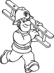 plansa de colorat pompieri de colorat p15