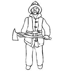 plansa de colorat pompieri de colorat p21