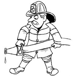 plansa de colorat pompieri de colorat p25