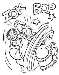 plansa de colorat popeye marinarul de colorat p02