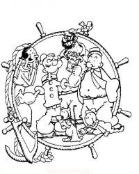 plansa de colorat popeye marinarul de colorat p17