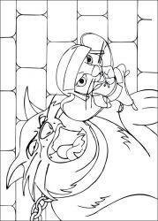 plansa de colorat povestea lui despereaux de colorat p06