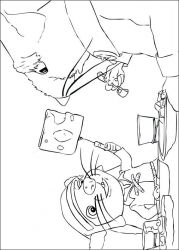 plansa de colorat povestea lui despereaux de colorat p07