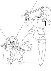 plansa de colorat povestea lui despereaux de colorat p09