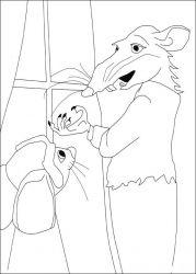 plansa de colorat povestea lui despereaux de colorat p13