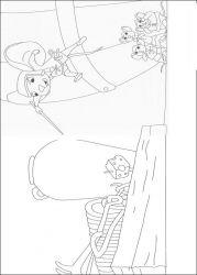 plansa de colorat povestea lui despereaux de colorat p16
