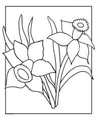 plansa de colorat primavara de colorat p32