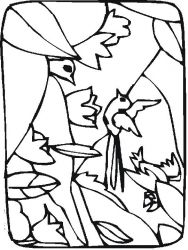 plansa de colorat primavara de colorat p67