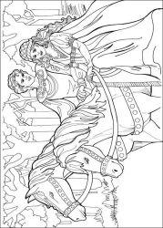 plansa de colorat printesa leonora de colorat p11
