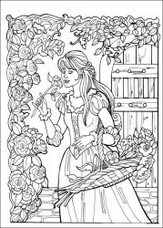 plansa de colorat printesa leonora de colorat p12