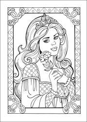 plansa de colorat printesa leonora de colorat p23