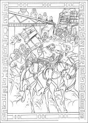 plansa de colorat printul egiptului de colorat p03
