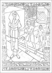 plansa de colorat printul egiptului de colorat p04