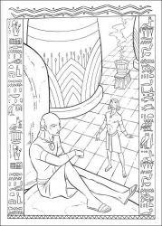 plansa de colorat printul egiptului de colorat p05