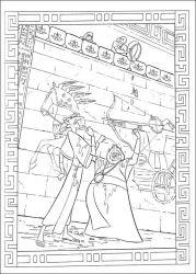 plansa de colorat printul egiptului de colorat p06