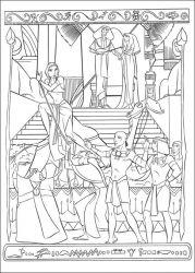 plansa de colorat printul egiptului de colorat p07